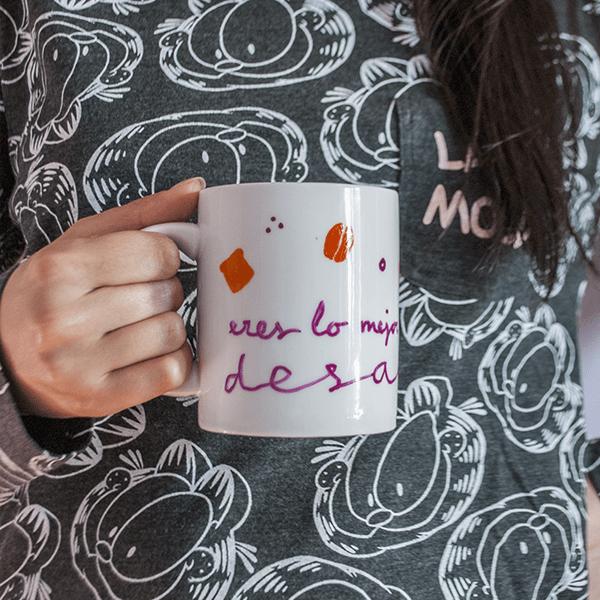 Taza eres lo mejor que me ha pasado, desayuno