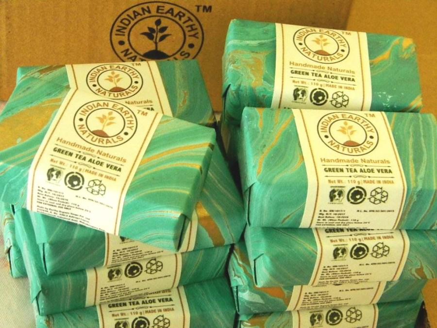 IEN® Green Tea Aloe Vera Soap
