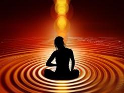 Yoga-Meditation, sich zentrieren