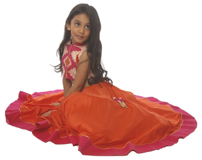 Ikkat Patch Lehenga - 1 Year to 5 Year - INR 8990, 6 Year to 10 Year - INR 9990