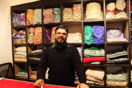 Danish Atique in his House of Sarees