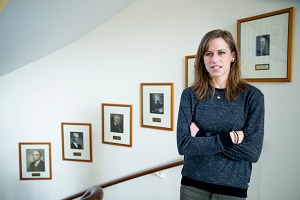 Teaching Fellow in Economics and PhD student Heather Sarsons, is the author of new research into why women economists aren't getting tenure at same rate as men.  (Photo: Rose Lincoln/Harvard Staff Photographer)