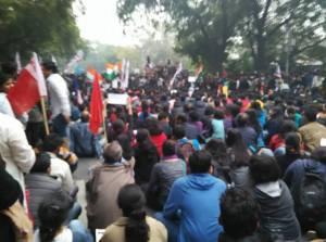 JNU Protests (Photo courtesy: Chandra Prakash Jha/Facebook)