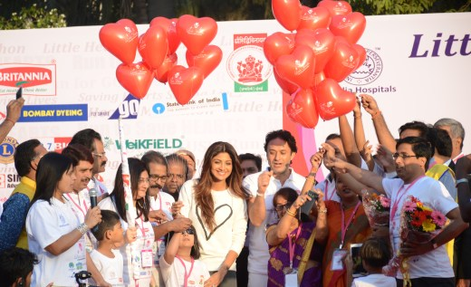 Actor Shilpa Shetty Kundra at Little Hearts Marathon 2016, an initiative by Wadia Hospital to motivate kids to have a healthy lifestyle.