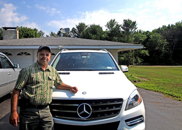 Surjeet Bassi Next To The Mercedes He Had Hoped To Replace With A New One  From