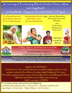 Support-A-Child Benefit Concert (Blend of Indian Dance, Music and Jugalbandi) @ Scottish Rite Masonic Museum, Lexington | Lexington | Massachusetts | United States
