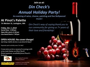 Din Check Annual Holiday Party - all welcome! @ Pinot's Palette | Lexington | Massachusetts | United States