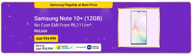 Samsung Galaxy Note 10+ at Rs 54,999 - newsdezire