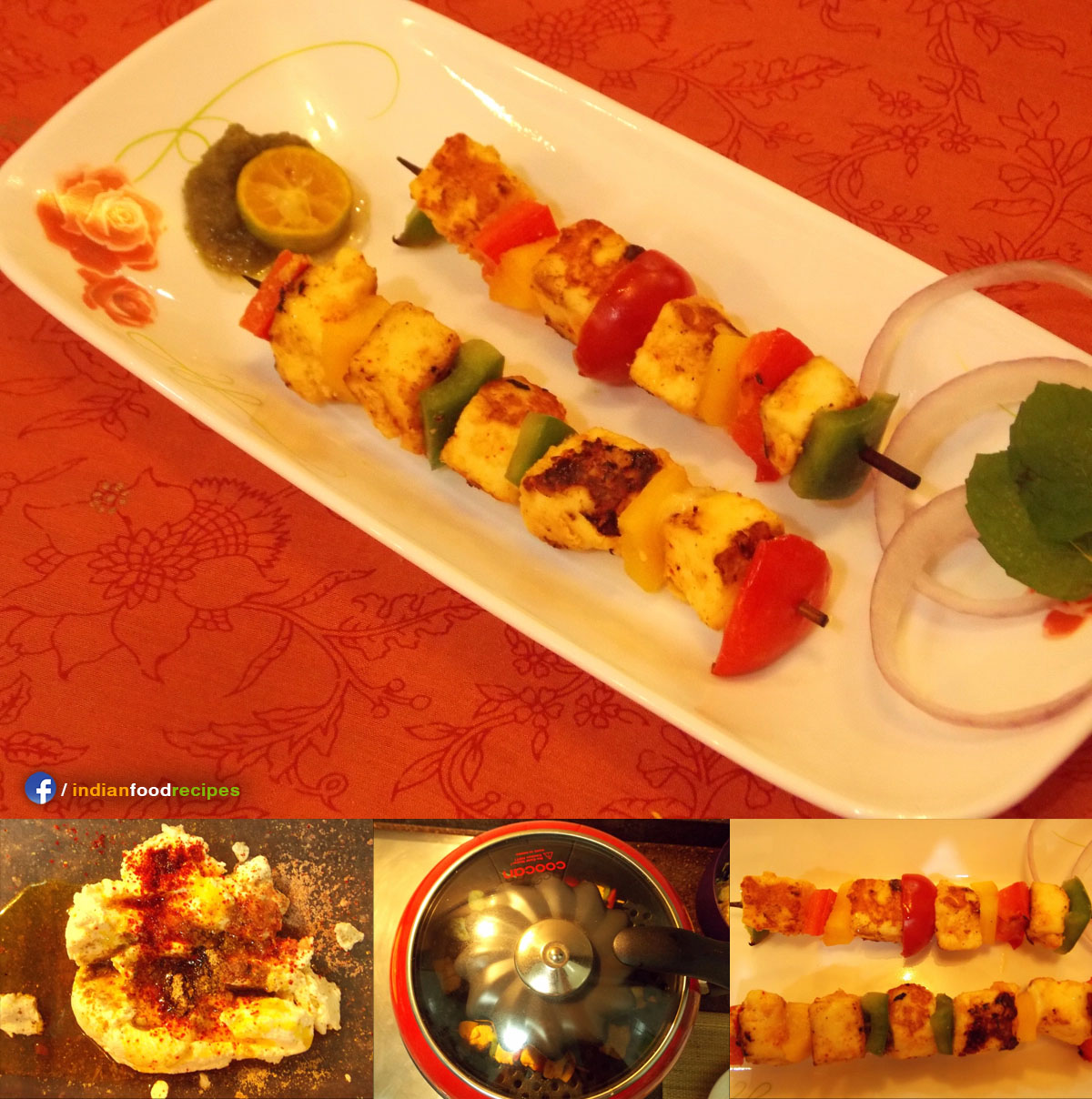 Adraki Paneer Tikka recipe step by step