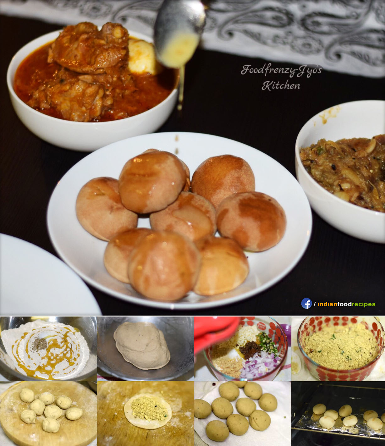 Baked Litti | Oven Baked Litti recipe step by step