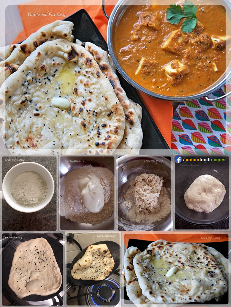Butter Naan recipe step by step