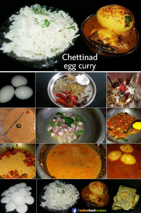 Chettinad egg curry recipe step by step