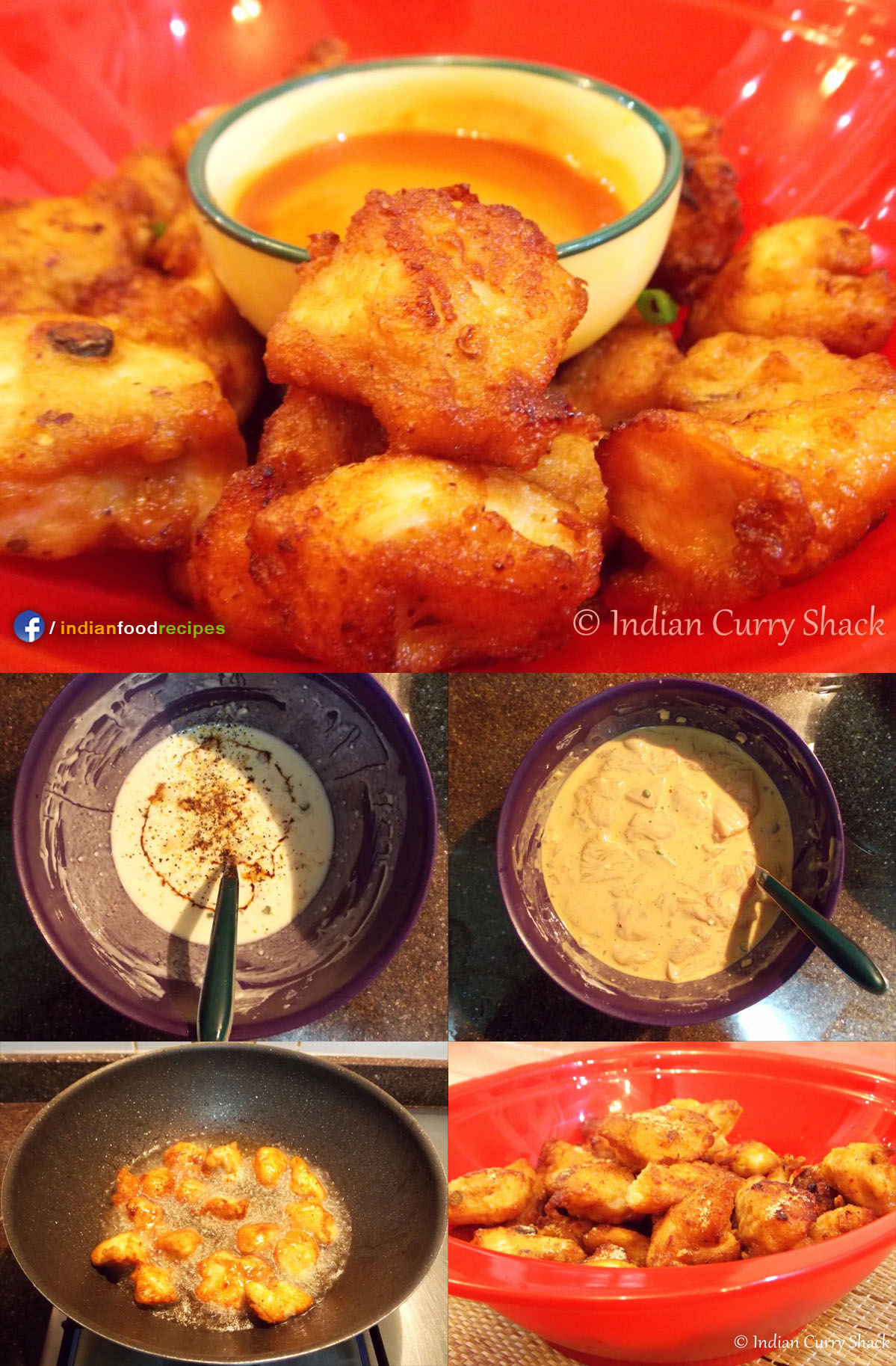Chicken Pakoras / Fritters recipe step by step