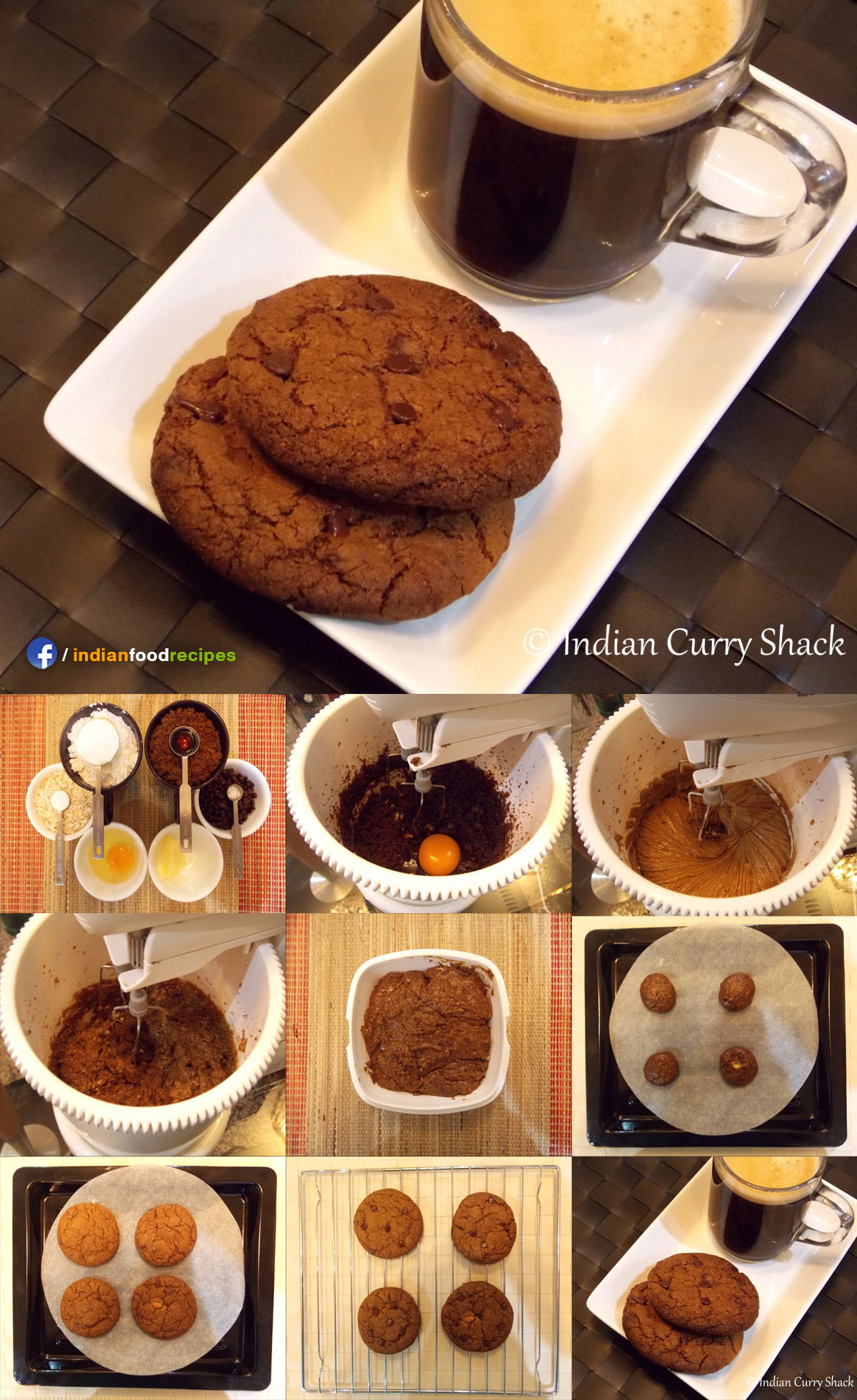 Chocolate Chip Oat Cookies recipe step by step
