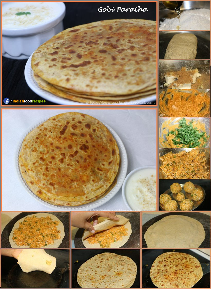 Gobi Paratha recipe step by step