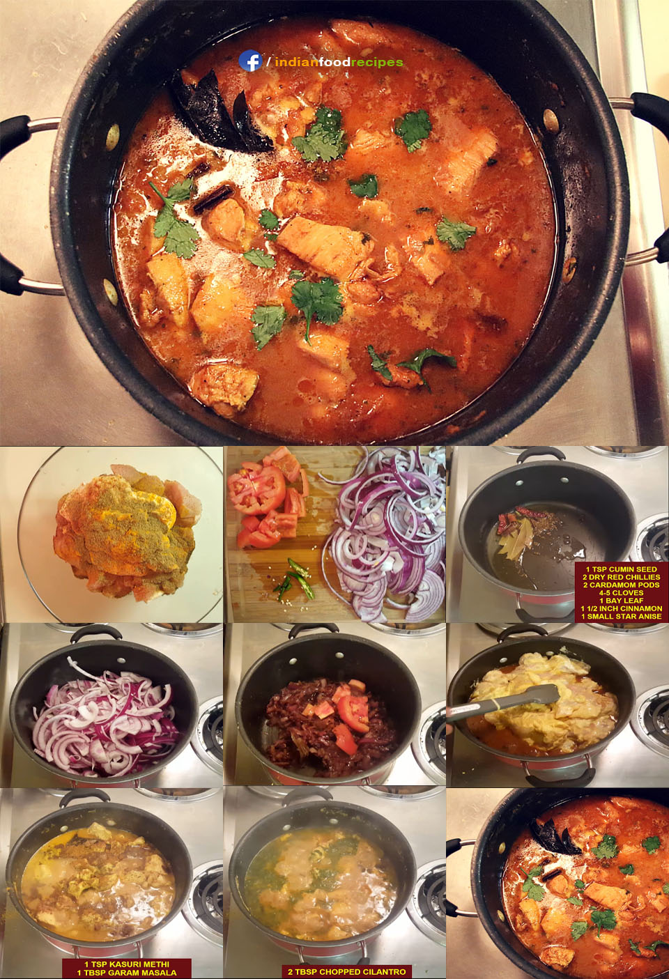 Healthy Indian Chicken Curry recipe step by step