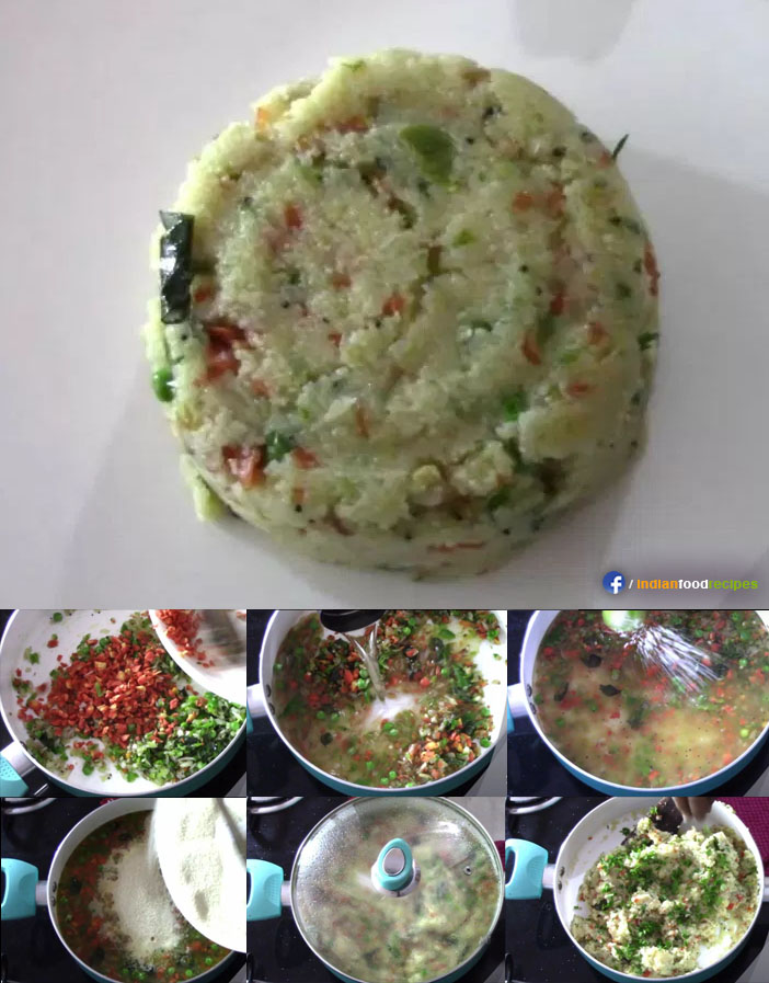 Hotel Style Rava Upma recipe step by step