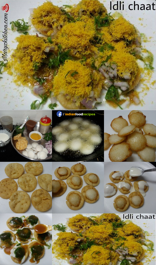 Idli chaat recipe step by step