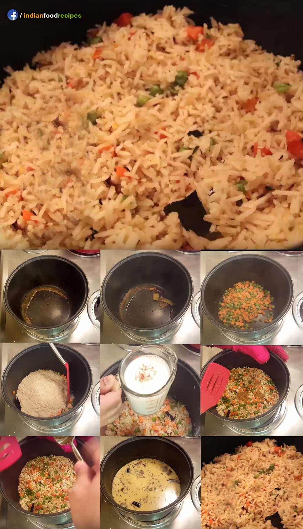 Indian Rice Pulao / Pilaf recipe step by step