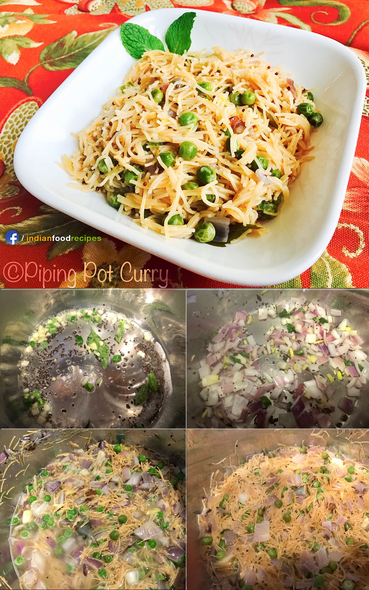 Instant Pot Vermicelli Upma (Semiya Upma) recipe step by step