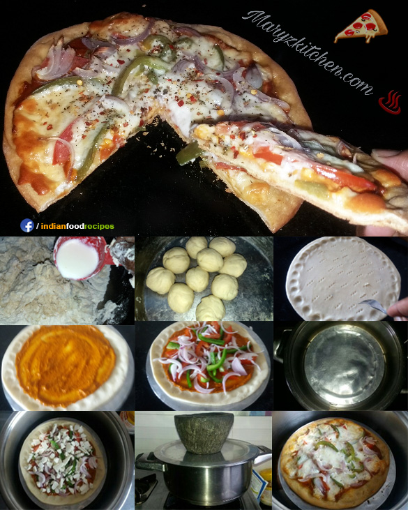 Kadai Pizza (without yeast, without oven) recipe step by step
