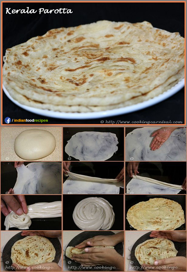 Kerala Parotta recipe step by step