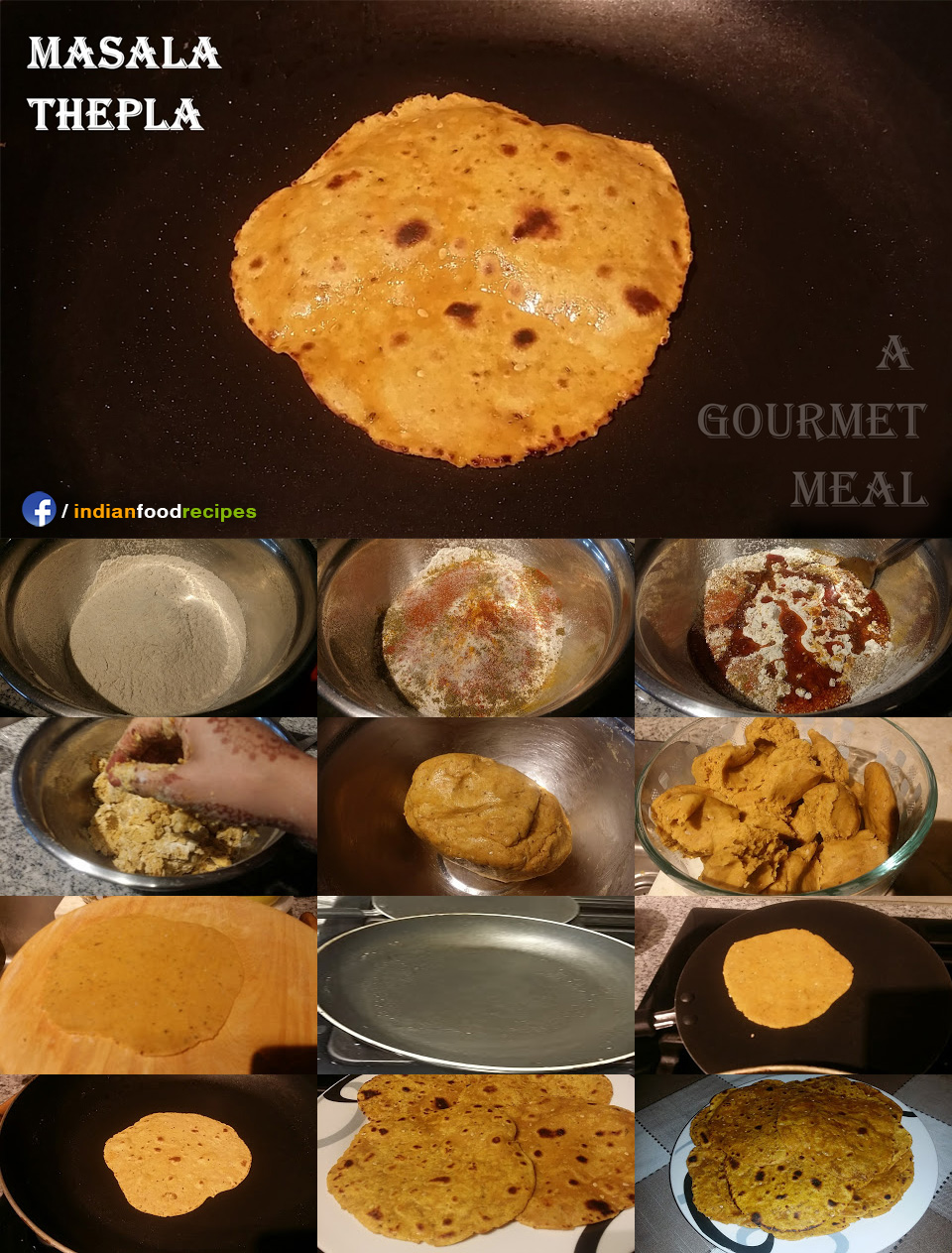 Masala Thepla recipe step by step