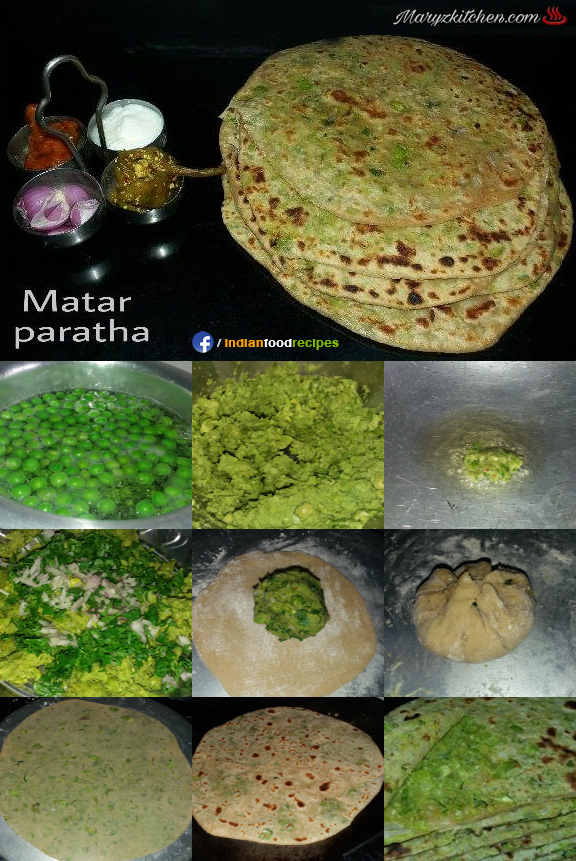 Matar paratha recipe step by step