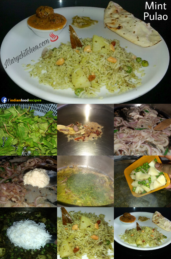 Mint pulao recipe step by step