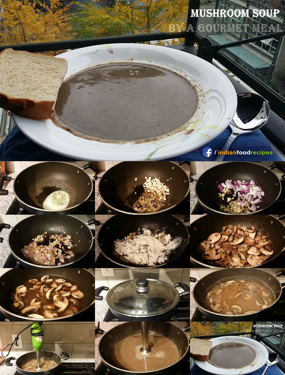 Mushroom soup recipe step by step