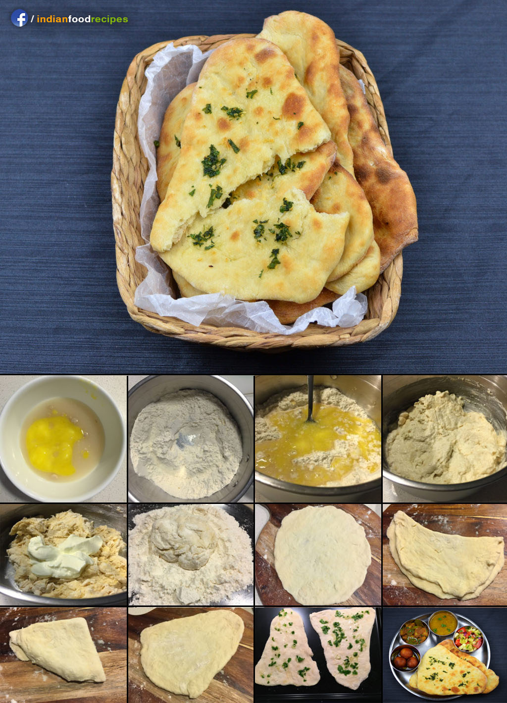 Fluffy Naan recipe step by step