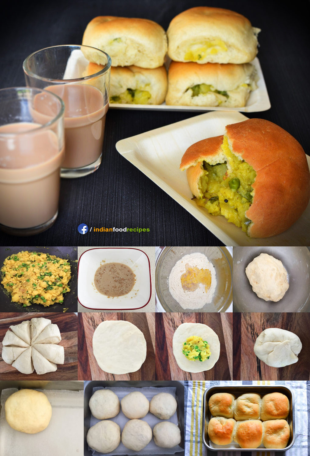 Palya Bun (Iyengar Bakery Style) recipe step by step