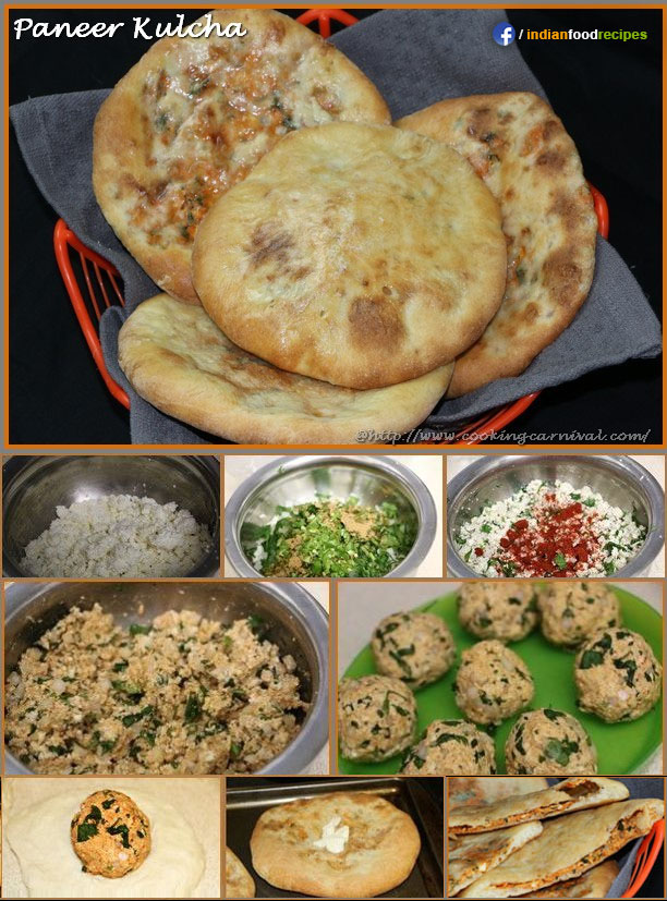 Paneer Kulcha recipe step by step