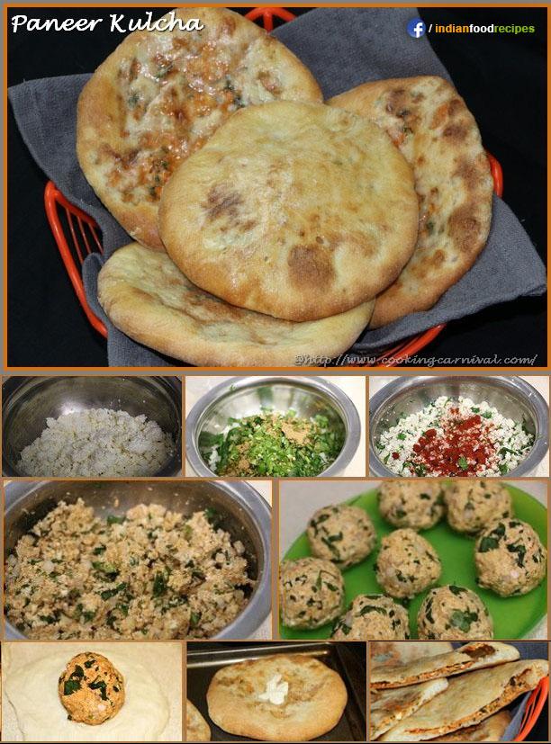 Paneer kulcha recipe step by step indian food recipes paneer kulcha recipe step by step forumfinder Images
