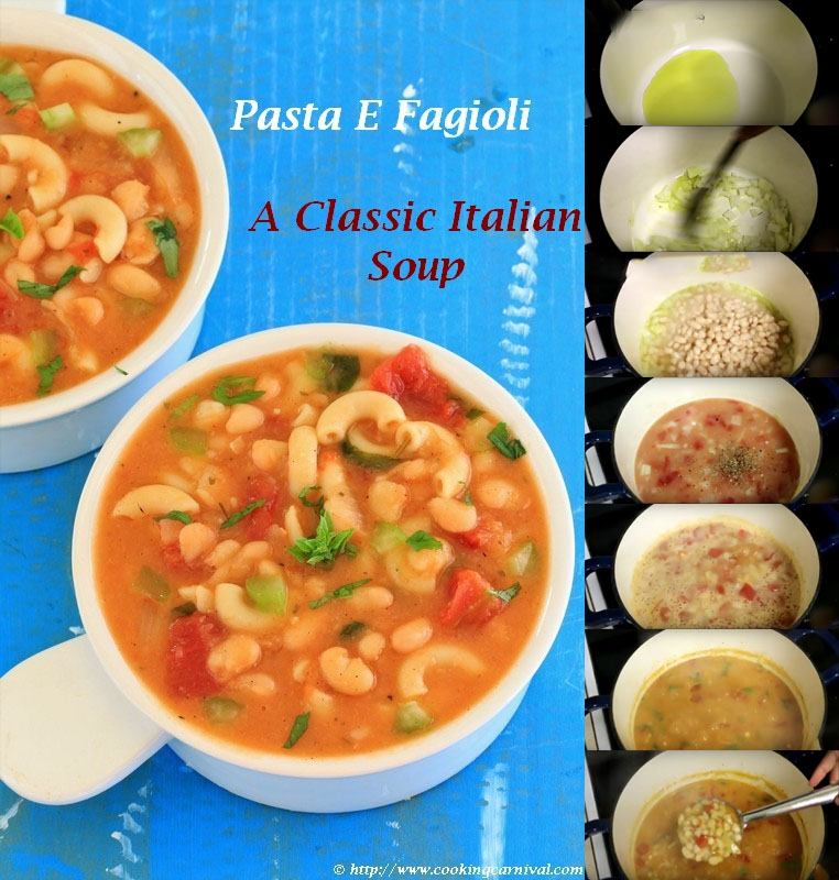 Pasta E Fagioli (Indo-Italian) recipe step by step