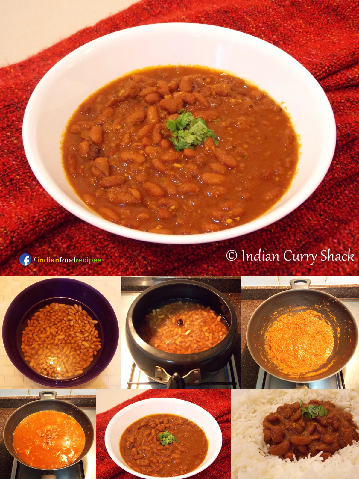 Rajma (Red Kidney Beans Curry) recipe step by step