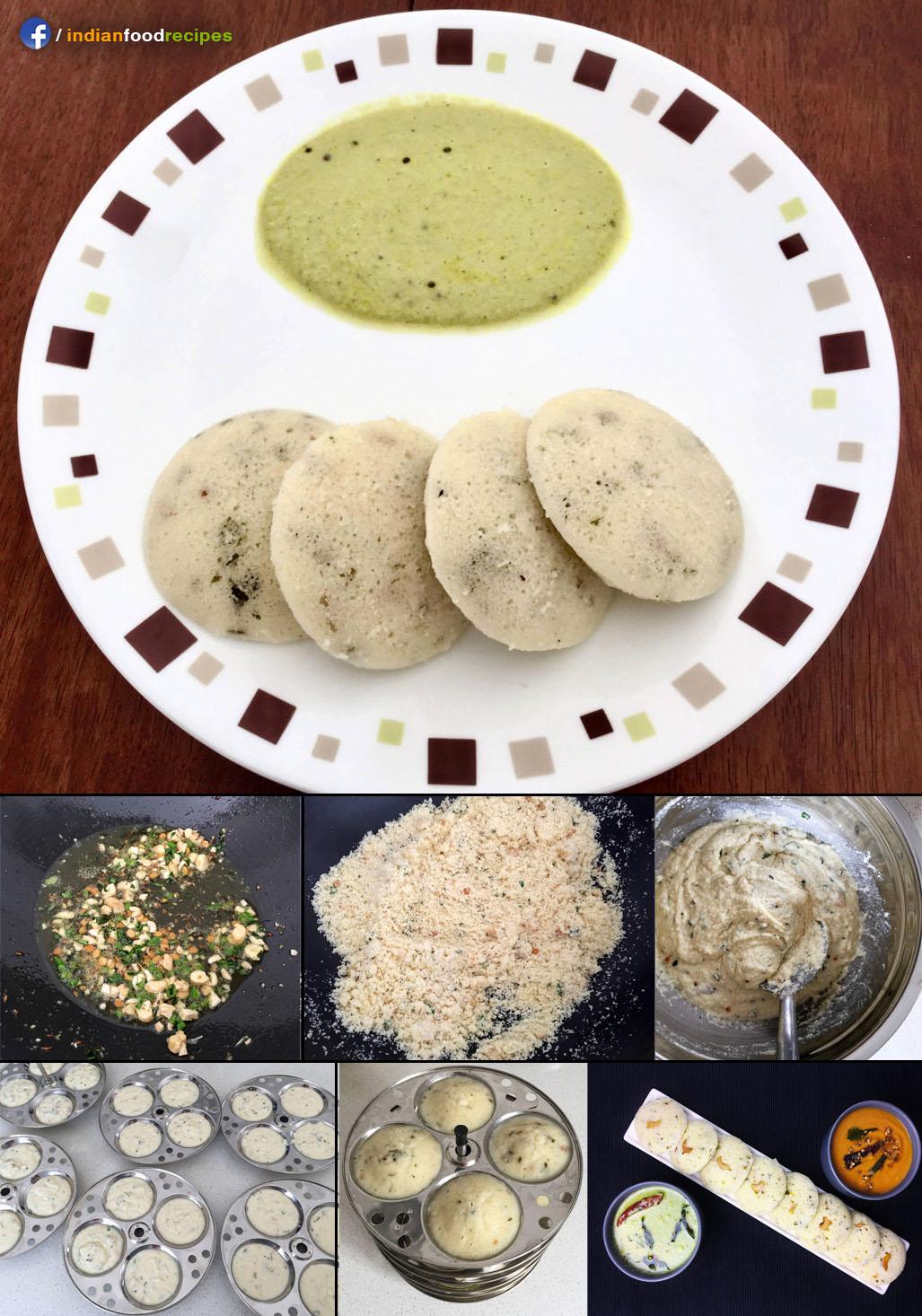 Rava Idli (Semolina Dumplings) recipe step by step