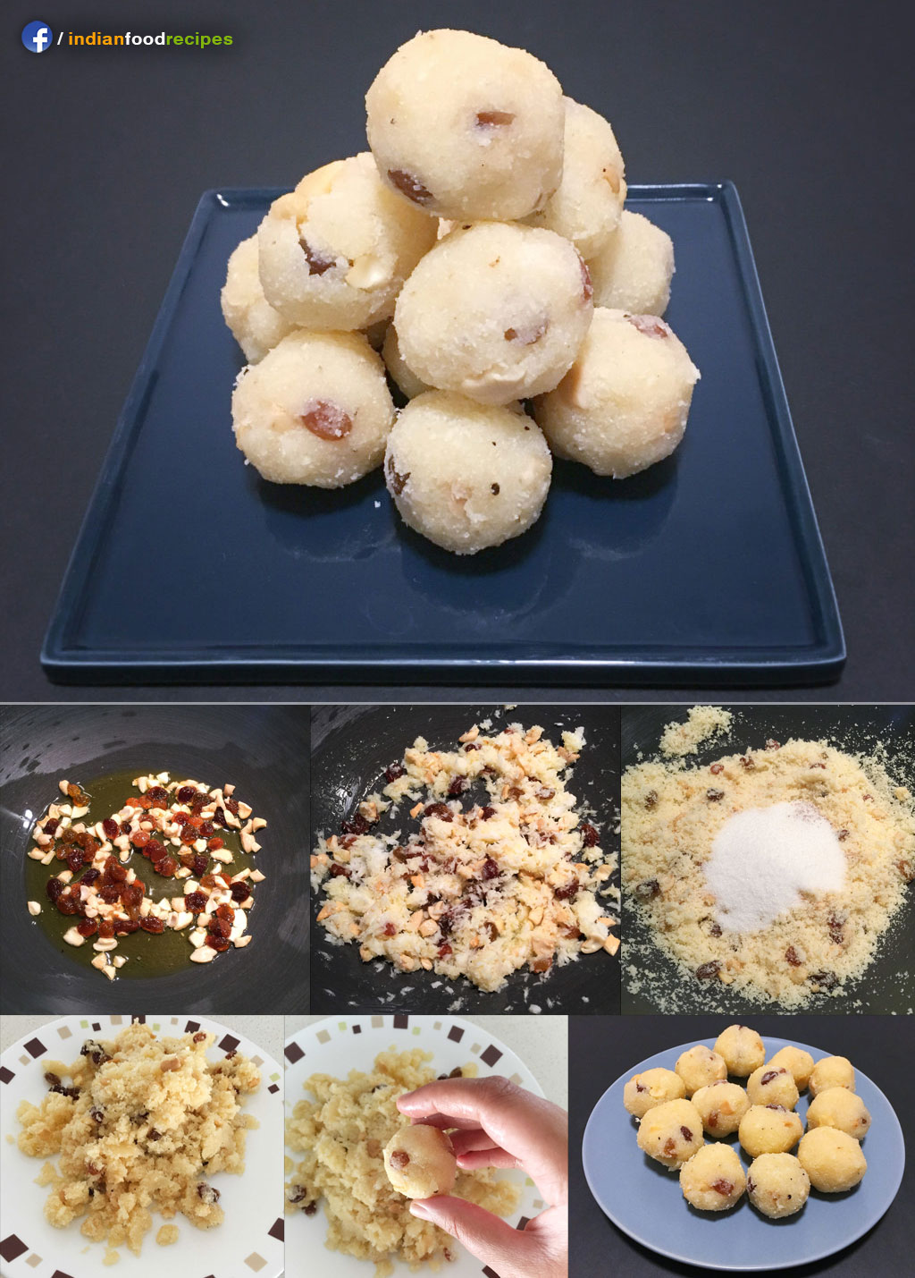 Rava Laddu Sooji ka Laddu recipe step by step