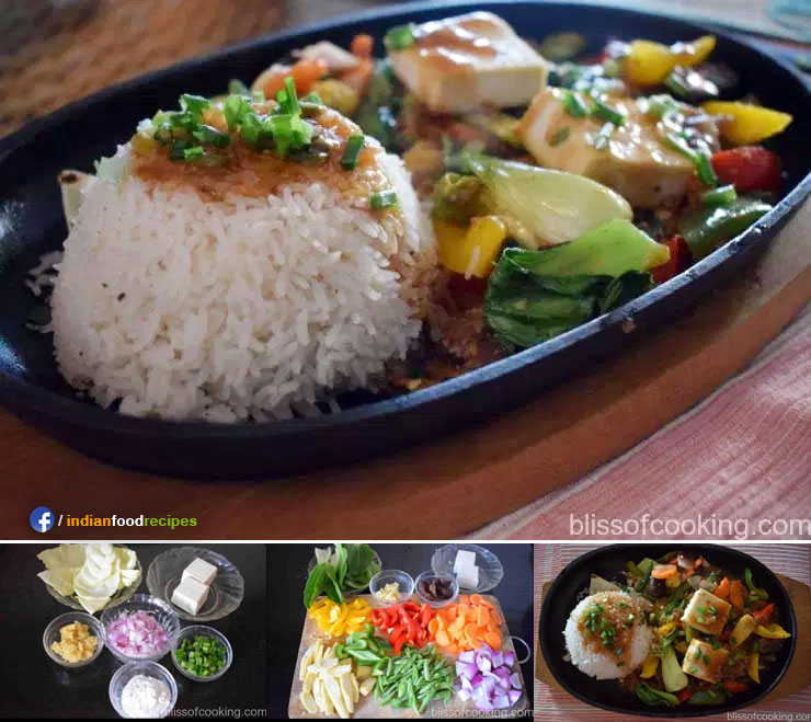 Sizzling Vegetables With Fragrant Rice (Chinese Sizzler) recipe step by step
