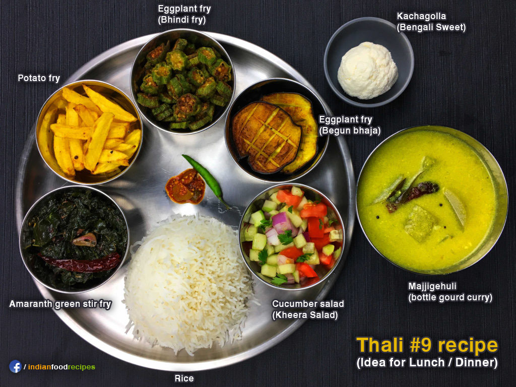 Thali #9 recipe – Lunch / Dinner idea