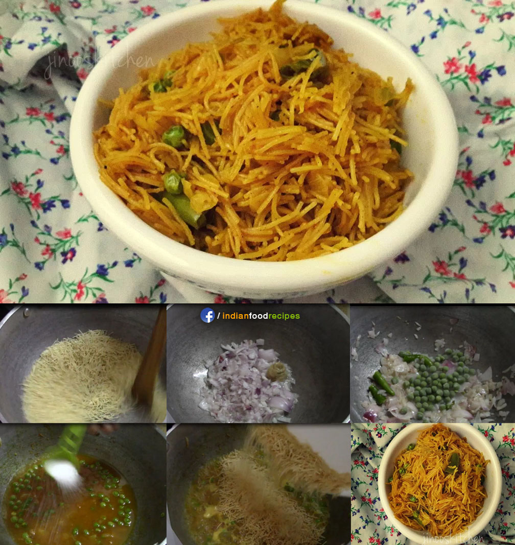 Vermicelli Pulao / Semiya Pulao / Masala Semiya recipe step by step