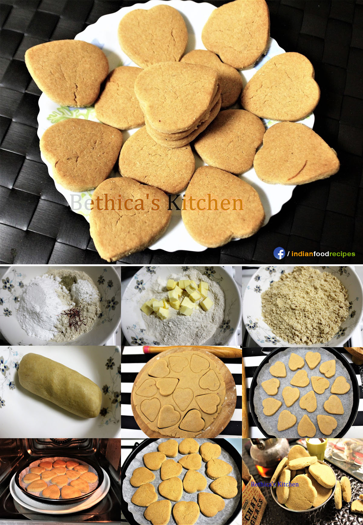 Whole Wheat (Atta) Biscuits recipe step by step