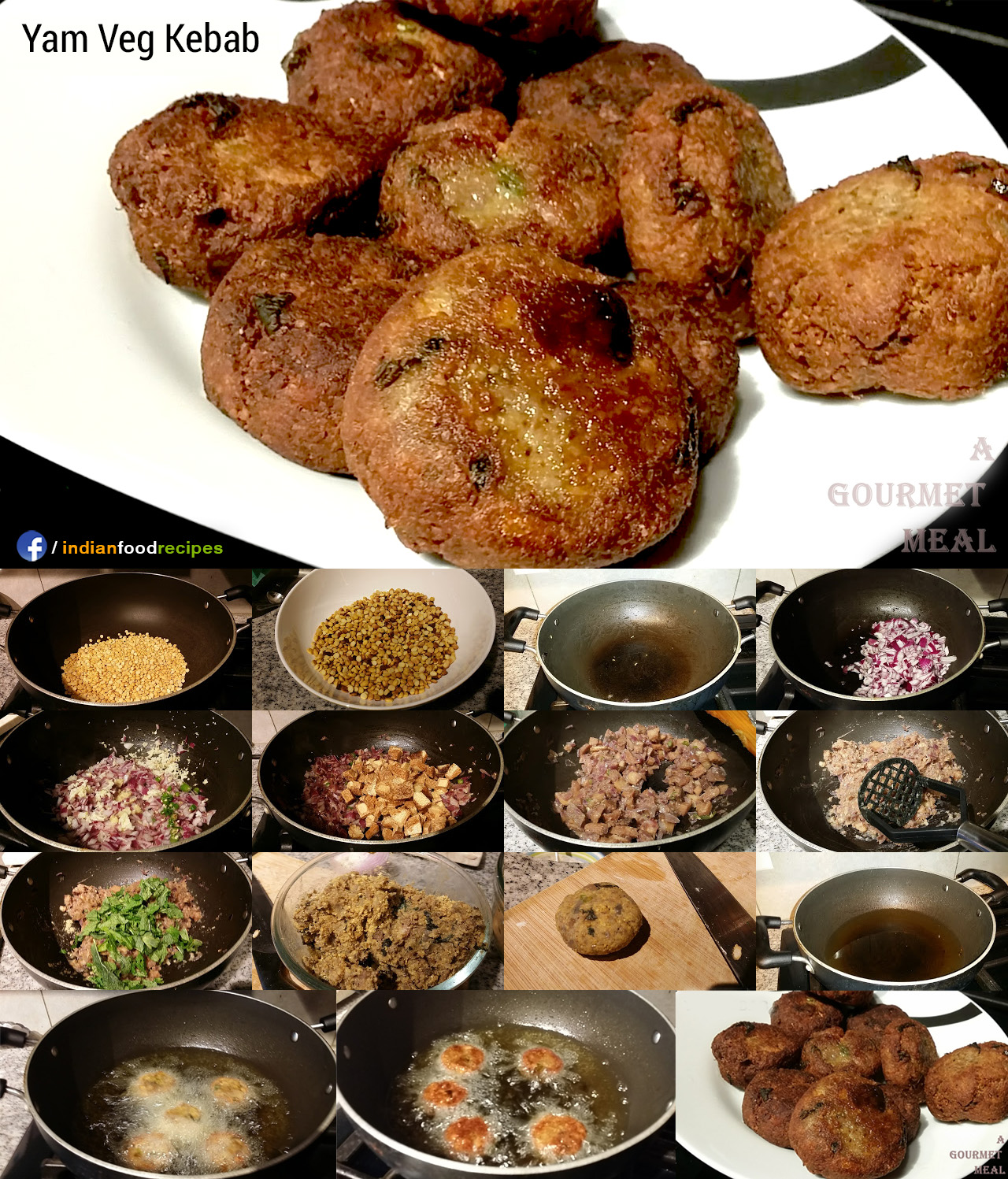 Yam Veg Kebab recipe step by step