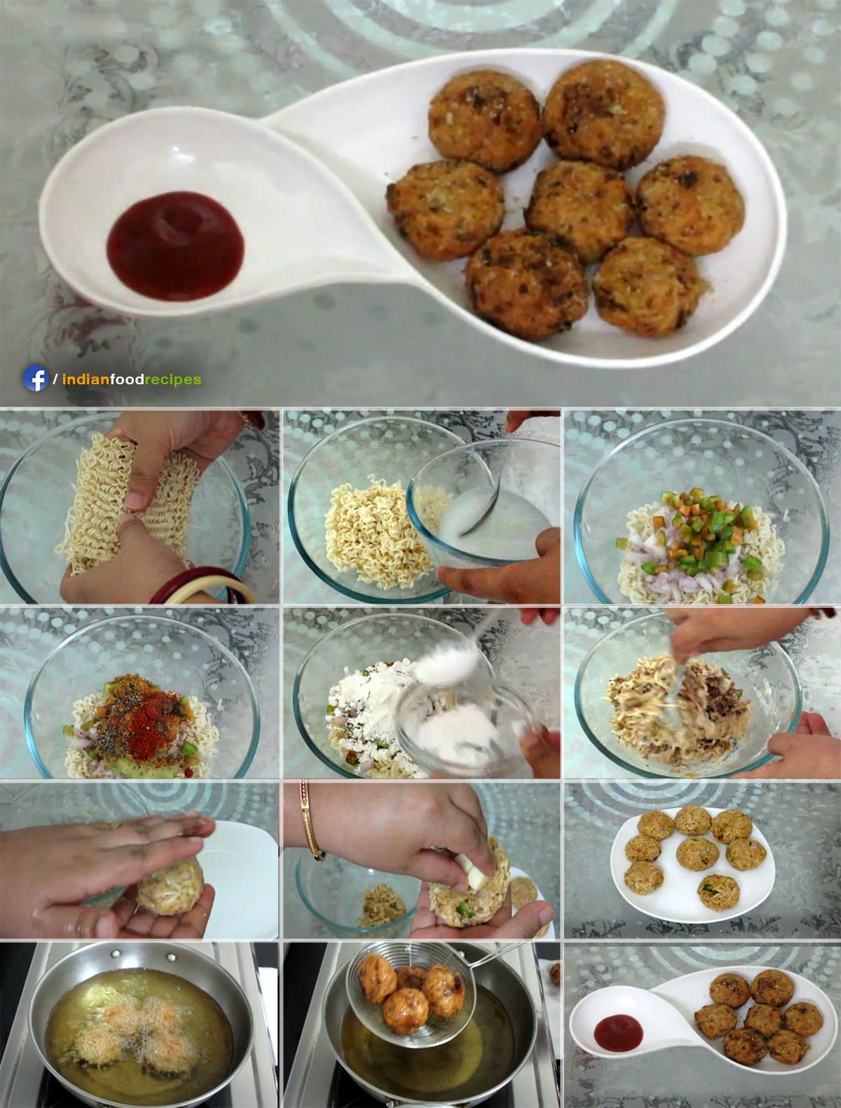 Crispy Maggi Pakoras recipe step by step
