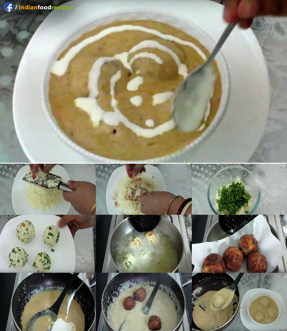 Malai Kofta restaurant style recipe step by step