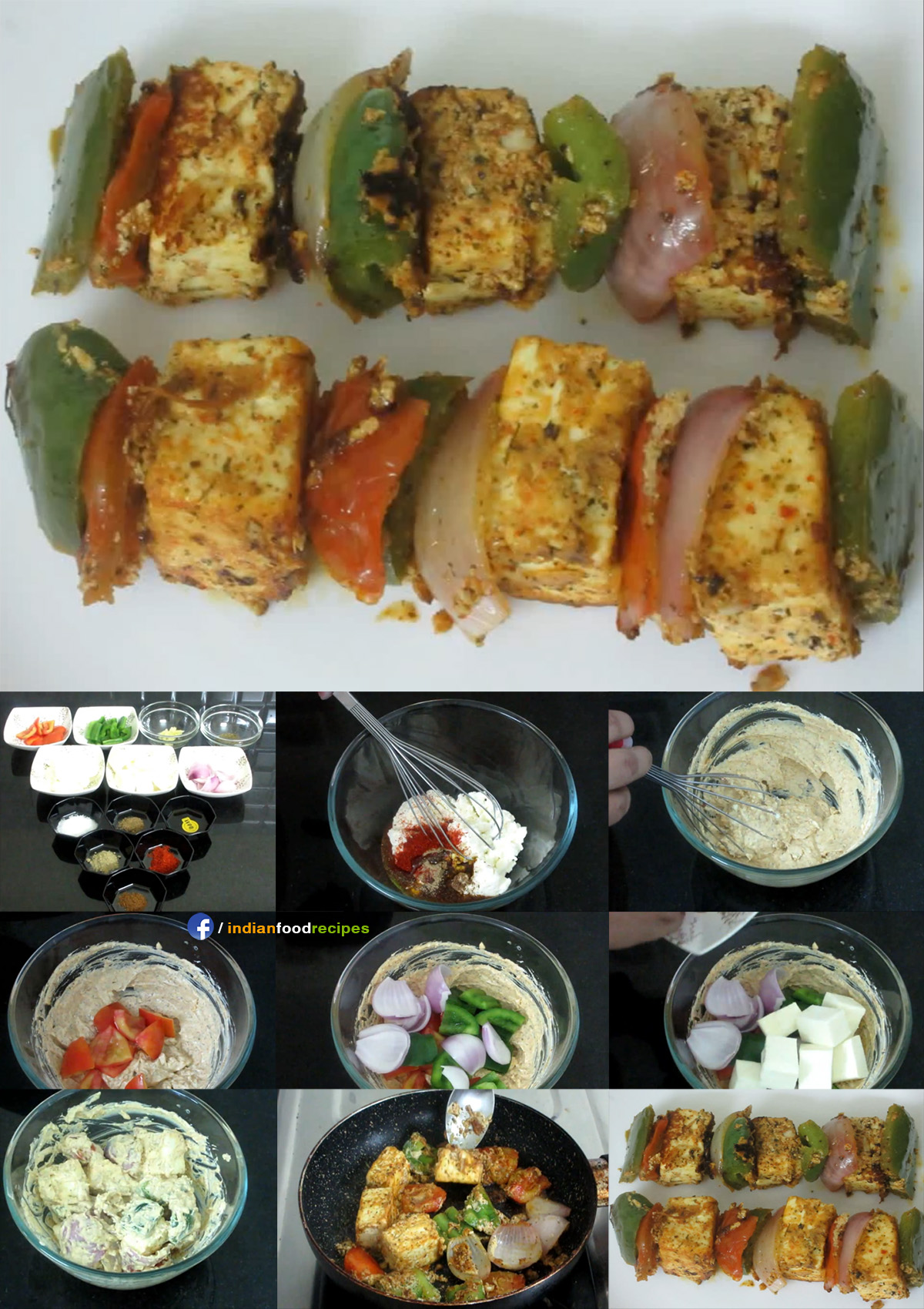 Paneer Tikka recipe step by step