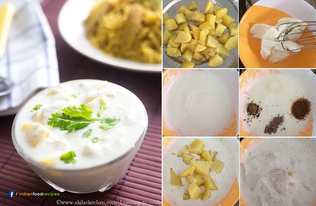 Aloo Raita | Potato Raita recipe step by step