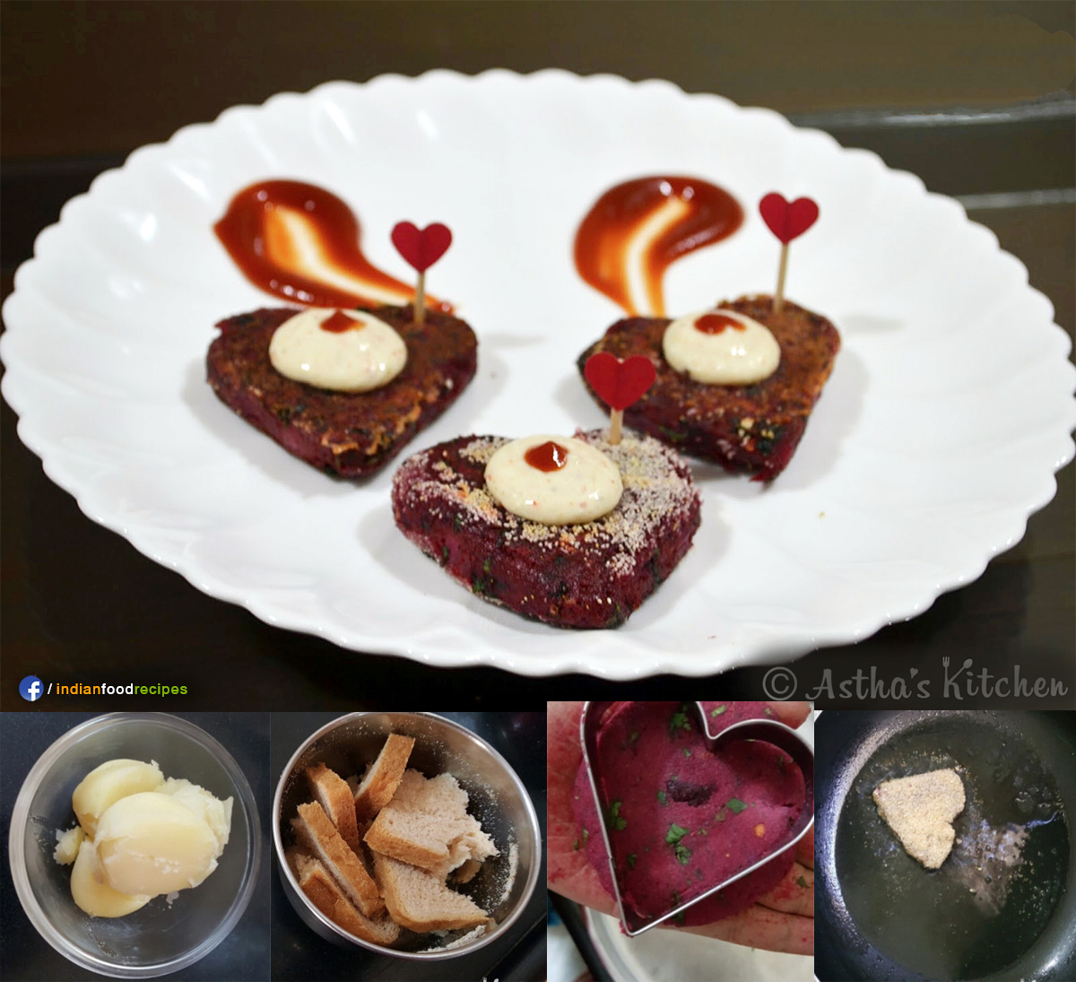 Beetroot Tikki recipe step by step