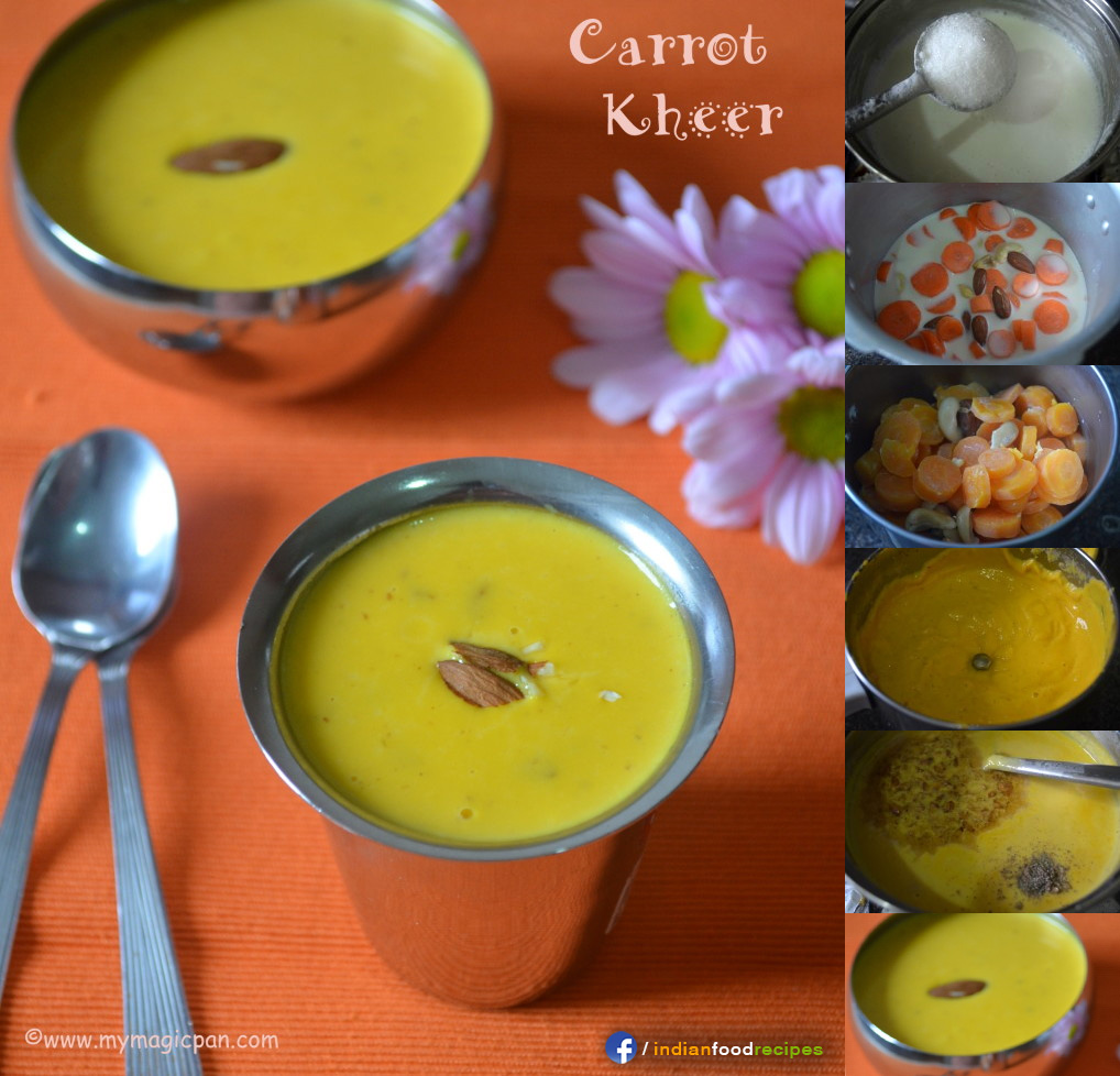 Easy Carrot Kheer – Carrot Payasam recipe step by step