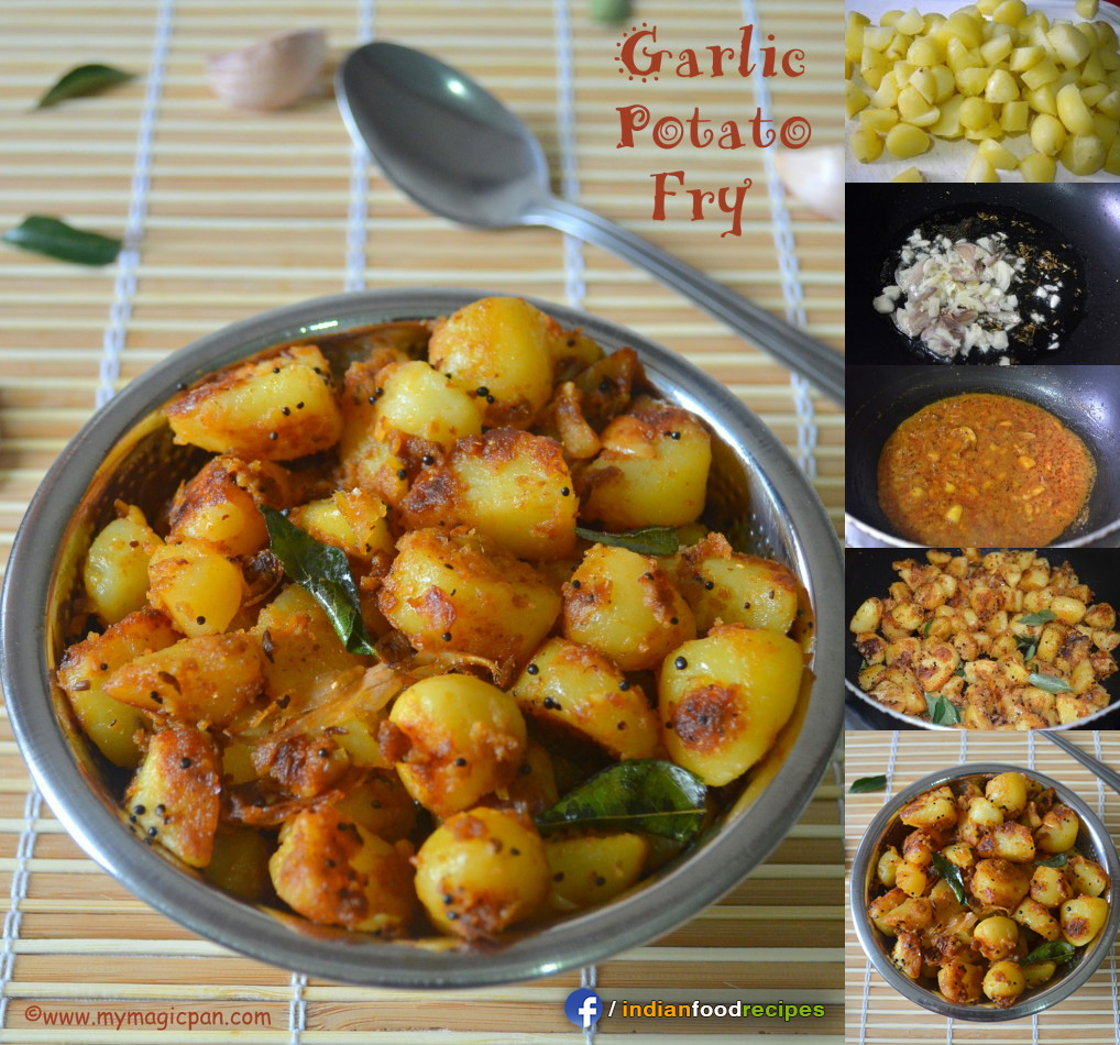 Easy Garlic Potato Fry recipe step by step